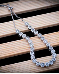 دستبند فلاور 925 عیار