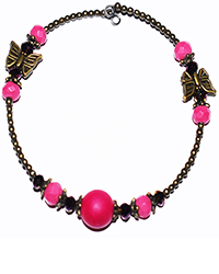 دستبند طرح النگو سنگ  با طرح پروانه زنانه