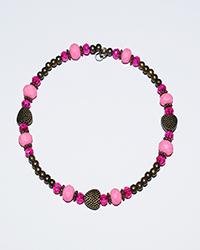 دستبند طرح النگو سنگ با پلاک قلب زنانه