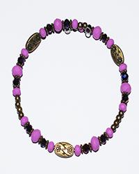 دستبند طرح النگو سنگ و گل زنانه