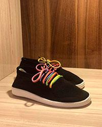 کفش زنانه رویه بافتی مشکی