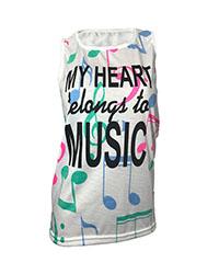 تاپ زنانه ایرسا طرح Music مدل 01
