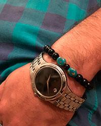 دستبند کشی مردانه سنگ