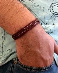 دستبند چرم کمربندی دخترانه و پسرانه