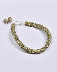 دستبند زنانه سوارسکی طلایی