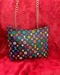 کیف زنانه دوشی طرح رنگی