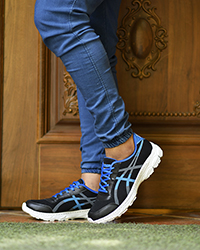 کفش ورزشی مردانه مدل asics مشکی - آبی