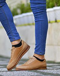 کفش کالج پوست ماری مردانه پشت چرم
