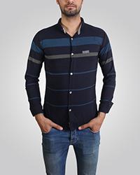 پیراهن طرح دار استین بلند مدل تیشرتی