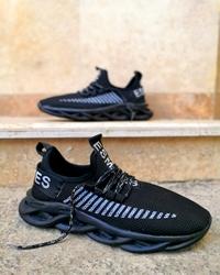 کفش پیاده روی مردانه تمام مشکی مدل ESMLIES