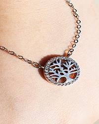 گردنبند نقره طرح درخت زندگی آمیتیس