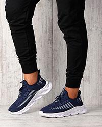 کفش پیاده روی مردانه سرمه ای مدل ESMLIES