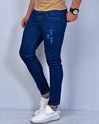 شلوار جین زاپ دار آبی مردانه