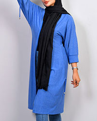 مانتو زنانه مدل bogur رنگ آبی
