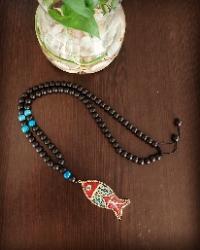 گردنبند اونیکس و ماهی تبتی