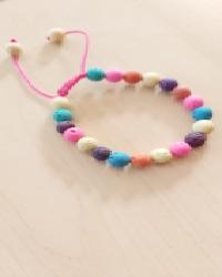 دستبند سنگ لاوا رنگین کمان
