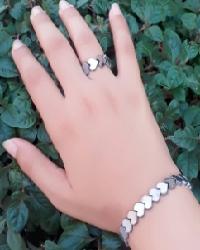ست دستبند و انگشتر حدید