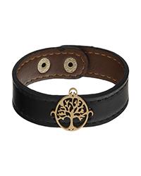 دستبند چرم درخت زندگی آمیتیس
