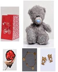 ست هدیه اقتصادی عروسک دسته گل ساک دستی+ 2هدیه ویژه دستبند و گوشواره استیل
