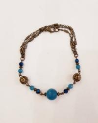 دستبند زنانه فیروزه ای آمیتیس