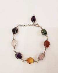 دستبند زنانه سنگی آمیتیس