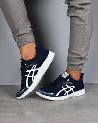 کفش ورزشی مردانه مدل ASICSسرمه ای