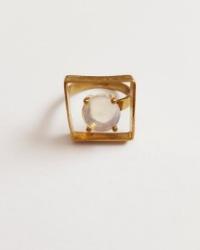 انگشتر مربعی نگین آمیتیس