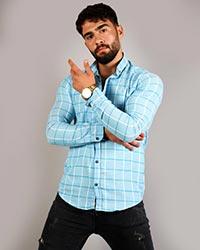 پیراهن مردانه مدل چهار خانه بزرگ