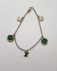دستبند آویزدار گل آمیتیس