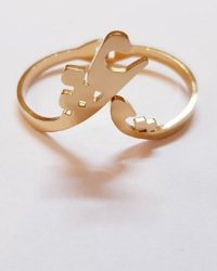 دستبند النگویی طرح عشق آمیتیس