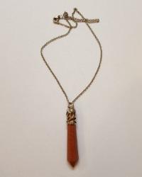 گردنبند مدال کهربایی آمیتیس