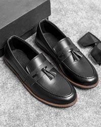 کفش کالج مشکی مردانه مدل Pobon