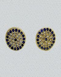 گوشواره زنانه مدل چشم نظر کد E1600 رنگ نقره ای کدیکتا silver-5367128