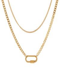گردنبند زنانه مدل N3239 رنگ طلایی کدیکتا 47-5417604
