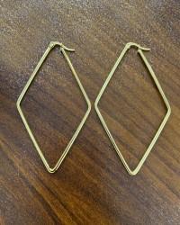 گوشواره زنانه مدل لوزی رنگ طلایی کدیکتا 00-5424347
