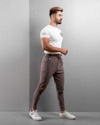 شوار اسلش قهوه ای مردانه مدل Saniyar