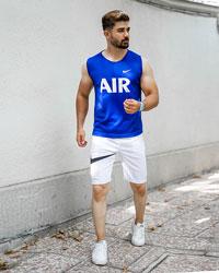 ست رکابی شلوارک Nike Air مردانه مدل Milano