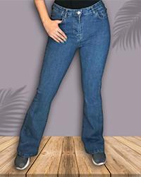 شلوار جین زنانه مدل دمپا گشاد