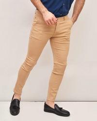 شلوار کتان مردانه کرم مدل kain