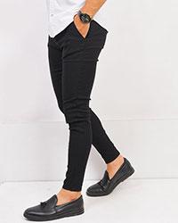 شلوارکتان مردانه مشکی مدل kain