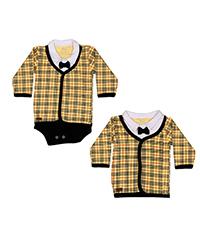 ست تاپ و تی شرت آستین بلند نوزادی تربچه مدل آرمان