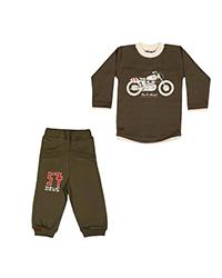 ست تی شرت و شلوار نوزادی تربچه مدل موتور