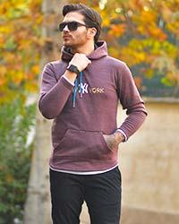 هودي مردانه مدل new york رنگ زرشكي
