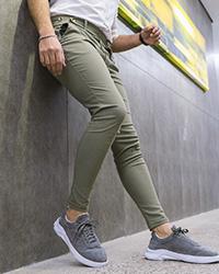شلوار مردانه سبز مدل Aflak