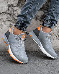 كفش ورزشي Adidas نارنجي طوسي مردانه مدل Ipala