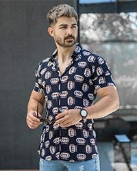 پيراهن هاوايي مردانه گوچي مدل Baten