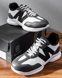 کفش ورزشی New Balance مردانه مشکی سفید مدل Bret