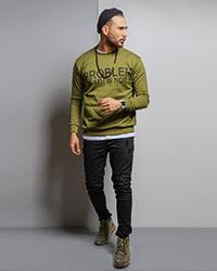پليور تو كركي سبز مردانه مدل Alferd