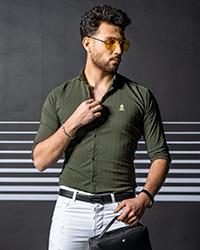 پيراهن مردانه رنگ سبز مدل Rafel