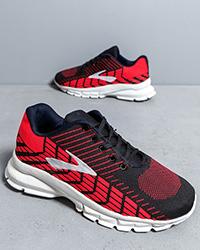 كفش ورزشي مردانه مشكي قرمز مدل Karlos